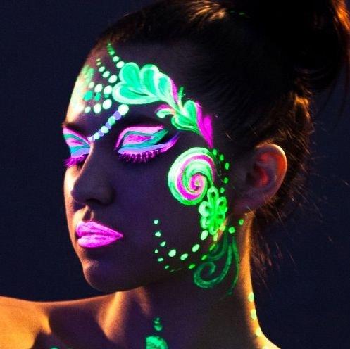 AmerTraders Neonorange Glow In The Dark Körperbemalung 10ml