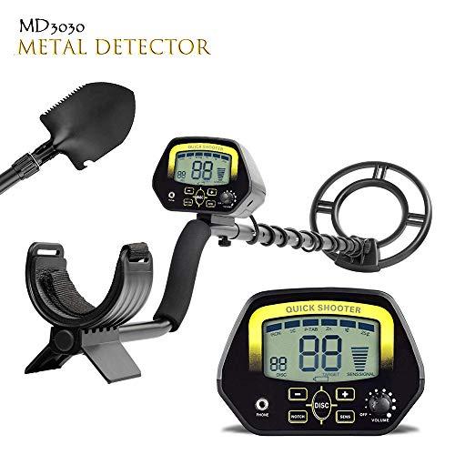 TOPQSC MD3030 - Detector de Metales Pantalla LCD de Color Dorado y bajo el Agua Poco Profunda