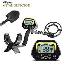 TOPQSC MD3030 - Detector de Metales (Pantalla LCD de Color Dorado y bajo el Agua