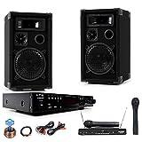 PA Party Musikanlage Boxen Verstärker USB MP3 SD Bluetooth Funkmikrofon DJ-Karaoke 2