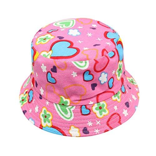 Kinderhut, Unisex, Baby, Jungen, Mädchen, Tarnmuster, Blumen, bunt, Fischerhut-Stil, Sommer, Sonne, Draußen, Strand-Hut, von Kingko -