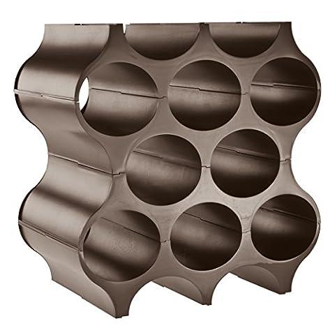 koziol etagère à bouteilles Set-Up, thermoplastique, roche, 23 x 35,3 x 36,4 cm