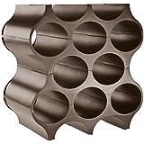 Koziol SET-UP - Set de 4 botelleros de plástico, color gris sólido