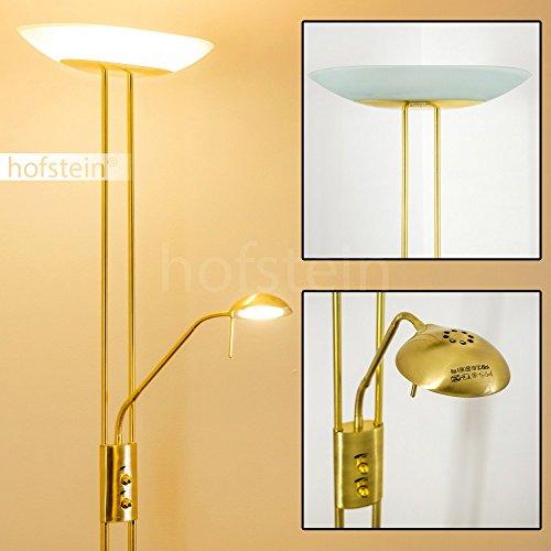LED Deckenfluter Lucca dimmbar 1 x 16 Watt - 1700 Lumen - 1 x 4,5 Watt - 480 Lumen - 3000 Kelvin - messing