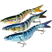 Magreel Fishing Lures Bass Lures Multi Jointed Artificial Bait Segment Swimbaits Lures Slow Sinking Lure Fishing Kit for Bass Trout Pike Perch