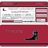 Einladungskarten Hochzeit Flugticket Eintrittskarte Einladung Ticket - 40 Stück
