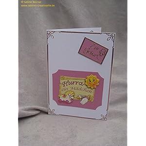 3D Grußkarte zur Geburt Mädchen, Art. 2124