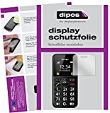 dipos I 2X Schutzfolie klar passend für bea-fon SL150 Folie Displayschutzfolie
