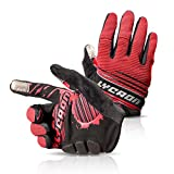 LYCAON Cycling Gloves, Silicone Gel, EVA Padding Cushion, Lycra Mesh, Ottoman Fabric, Touch Screen, Skid Resistance, Riding Bicycle Bike Full Finger Mitten Gel Padded Glove for Mountain Road Bike MTB BMX Cruiser Outdoor Sports Men Women (3 Size, 4 Colors)