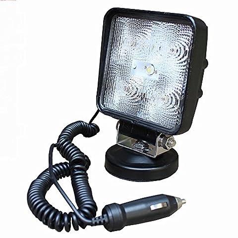 SAILUN 15W LED Feux de travail Lumières supplémentaires Lampe de travail Floodlight hors route Phares 12V 24V Avec base magnétique Pour SUV, UTV, ATV