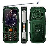 QHJ Dual Sim Outdoor Handy,2,8 Zoll Display,IP68 Wasserdicht,Stoßfest, Rugged Handy Ohne Vertrag mit Lautem Lautsprecher und Fahrradlicht ,TV-Empfang,Mp3/Mp4 (Armeegrün)