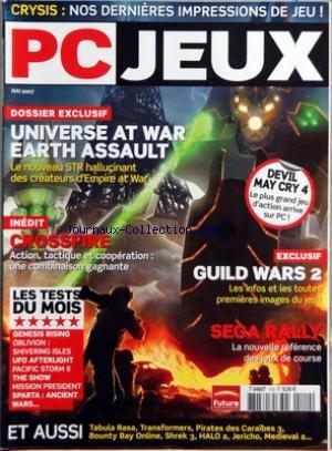 PC JEUX [No 110] du 01/05/2007 - CRYSIS - NOS DERNIERES IMPRESSIONS DE JEU - UNIVERSE AT WAR EARTH ASSAULT - CROSSFIRE - LES TESTS - GUILD WARS 2 - SEGA RAILLY par Collectif