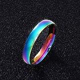 GMZWW Ring Paar Ring für Frauen und Mann Titan Stahl Liebhaber Ring Edelstahl Eheringe 2mm 4mm Dieser Ring glänzt mit Schönheit und fügt EIN luxuriöses Bild 4mm 6