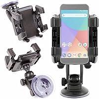 DURAGADGET Soporte Con Abrazaderas Para Smartphone Xiaomi Mi A1 - ¡Ideal Para El Parabrisas De