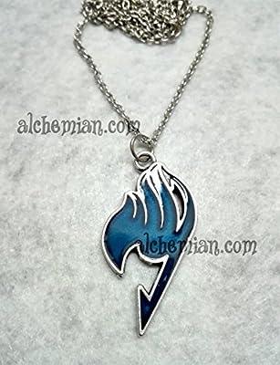 Fairy Tail, collier avec symbole bleu