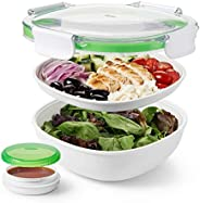 Oxo Good Grips Saladebox-To-Go, 1,25 L, Wit/Groen