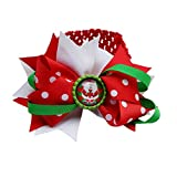 HENGSONG Bébé Fille Père Noël Rouge Headdress Elastic Hair Band Décorations de Noël Bandeau Couronne