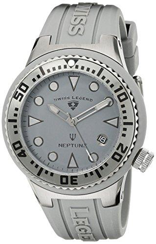 Swiss Legend - SL-11044D-PHT-014 - Neptune - Montre Mixte - Quartz Analogique - Cadran Noir - Bracelet Silicone Noir