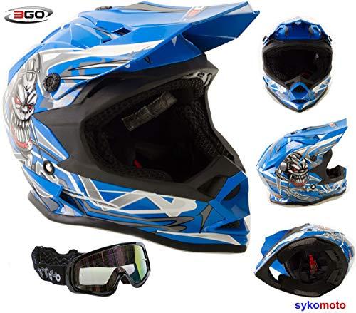 3GO X10-K NIÑOS CRÁNEO DISEÑO MOTOCROSS QUAD ATV