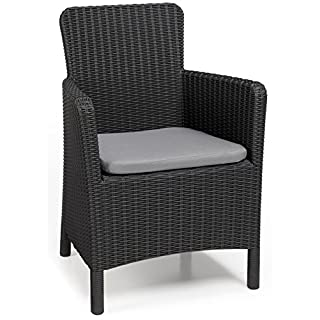 Allibert Dining Sessel Trenton mit Kissen, graphit/cool grey