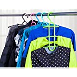 Mosquickmultipurpose Hanger For Clothes , Space Saving Hanger, Cupboard Organizer (Multi Color -1 Pc )