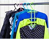 #6: MosQuick cupboard organiser , Multipurpose space saving Hanger for shirts , pants , tshirts , tops , scarf , ties and more (White or Green ),1-Piece