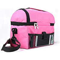 Bolsa térmica Shayson portable para almuerzo, pícnic, resistente al agua, protectora de calor y frío Rose Red