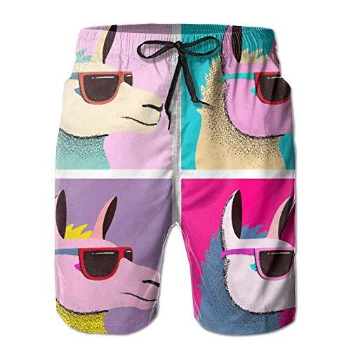 best gift Sunglasses Llama Mens Beach Shorts Boardshort Beach Swim Trunk Large (Boys Golf Oakley)