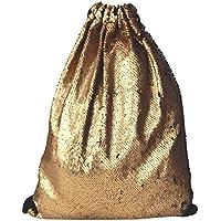 b5694b9560d85 Ella Jonte Gymbag gold schwarz Pailletten Wendepailletten Gym Bag Hipster  Turnbeutel