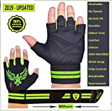 Xtrim Macho Unisex Leather Workout Gloves (Black,Medium)