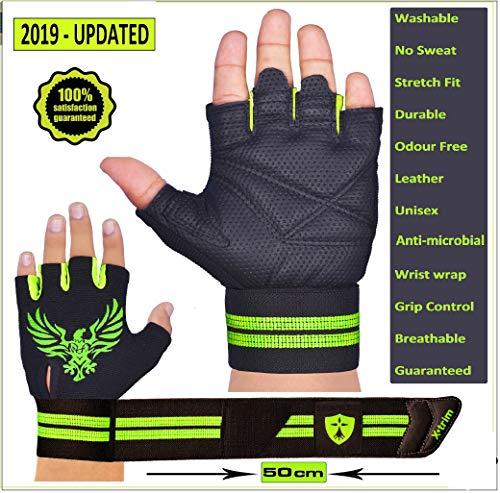Xtrim Pro Firm Unisex Leather Gloves, XL  Black