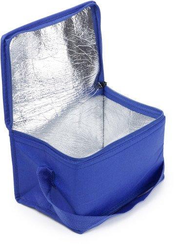 Kleine Kühltasche Kühlbox I-3656 blau für 6 Getränkedosen pasend