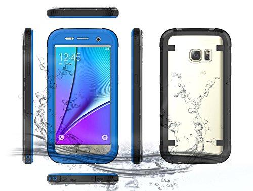 Samsung Galaxy S7 Waserdicht Hülle [Happon] Ultra Slim [IP68 Zertifiziert Wasserdicht] Stoßfest Stubdichtes Snowproof Handyhülle Kratzfestes Gehäuse Outdoor Handy Schutzhülle Unterwasser Cover Tasche Case für Samsung Galaxy S7 (Blau)
