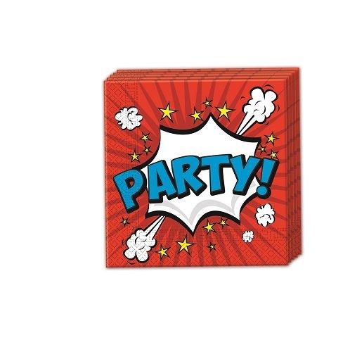 Preisvergleich Produktbild Boom Party 2-lagige Papierservietten 33x33cm