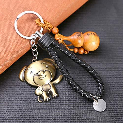 Tierkreis-Schlüssel-Legierungs-Anhänger Tierkreis-Walnuss Keychain Kreative Gesponnene Abzugsleine-Länge 12.5Cm Bronze -