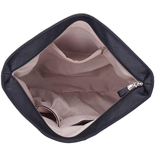 LeahWard® Übermaß Schultertaschen Zum Damennett Damen Einkaufstasche Handtaschen A4 407 423 Kette Gurt Taschen-Grau (38x14x32cm)