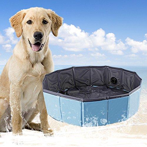 YITOO Hundepool Doggy Pool Badewanne Umweltfreundliche Haustier Pool Bade für Haustier Schwimmen Pool 120CM*30CM -