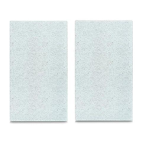 "Set of 2 ""granite"" lightgreyhob covers/chopping board-cutting/chopping boards -glass splash guard- 30x 52cm"