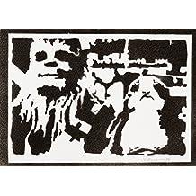 Chewbacca E Porg STAR WARS Handmade Street Art - Artwork - Poster