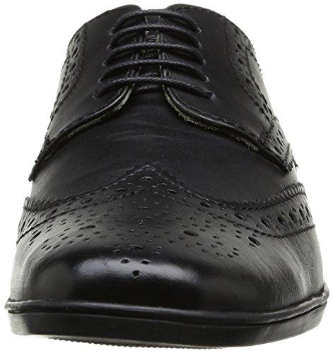 Base London Shore, Chaussures de ville homme Noir (Waxy Black)