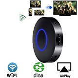 Wireless HDMI Dongle, VPRAWLS Mini drahtlose HDMI WLAN Dongle Empfänger Adapter 1080P Anzeige Airplay Miracast DLNA WiFi TV Display Receiver Empfänger HDMI Media Cast Funktion für Android IOS (auch IOS 11) Smart Phones iphone ipad usw Nicht kompatibel mit der App, die das Urheberrecht erfordert, wie: Netflix/ iTunes/ Amazon Video/ESPN usw