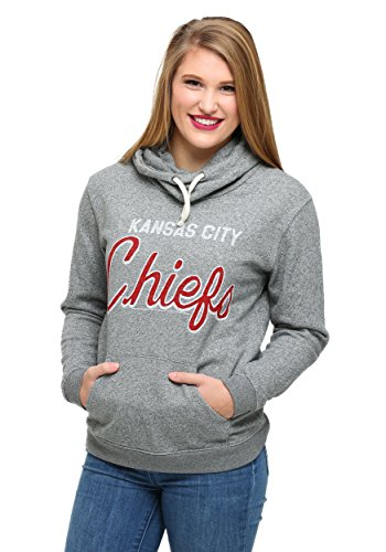 Womens Kansas City Chiefs Sunday Cowl Hoodie Large (Chiefs Spielzeug Kansas City)