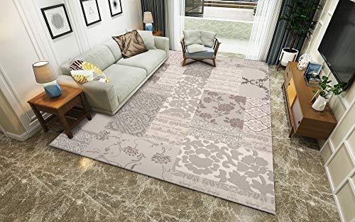 Traditioneller Klassiker Graue Erleichterung Wohnzimmer Teppich Winter Isolierung S - XXXL Modern Vielzweck Bodenmatte,Beige,200x300cm