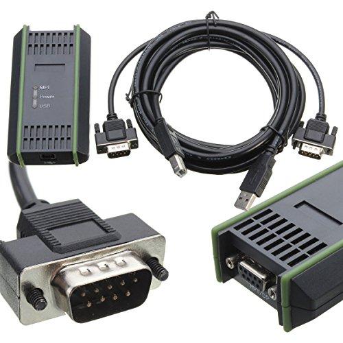 SHIJING PC-Adapter USB-Kabel-Adapter für Siemens S7-200/300/400 RS485 Profibus/MPI/PPI-9-Pin Ersetzen für Siemens 6ES7972-0CB20-0XA0