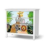 creatisto Klebefolie Sticker Tapete für IKEA Hemnes Kommode 3 Schubladen | Möbel umgestalten Aufkleber Möbel Möbel-Folie | Schöner Wohnen Jugendzimmer Dekoartikel | Design Motiv Wild Animals
