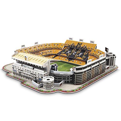 NANOSTAD - Juego de construcción 3D, Valencia Mestalla (Giochi Preziosi 00104)