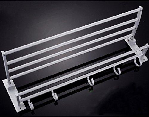 ZHDC® Regal, Space Aluminium Handtuchhalter Aktivität Falte Anhänger Handtuchhalter Großhandel Badezimmer Anhänger Set Regal Starke Tragfähigkeit (Display-racks, Großhandel)