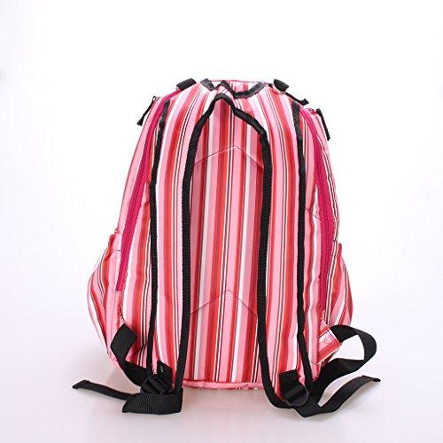 Mama Multifunktions -Rucksäcke Wasserdichte Umhängetasche Wickeltasche Baby Reisen Tasche - Rosa Rosa