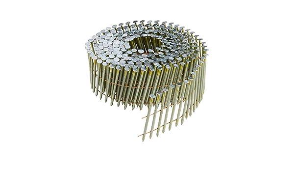 Utensili Compatibili DPN64C-XJ SERIE N Testa tonda; Angolazione 15/° RING GALVANIZZATO 12 MICRON Diametro 2.03mm Lunghezza 55mm Confezione 14000 pezzi CHIODI IN BOBINA