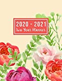 "2020-2021 Two Year Planner: 2020-2021 monthly planner full size | 24-Month Planner & Calendar Size: 8.5"" x 11"" ( Jan 2020 - Dec 2021). Two Year ... Design (2 year monthly planner 2020-2021)"
